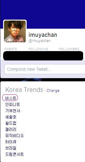 [Update] B2ST is 1st on Twitter Trending Topic in Korea